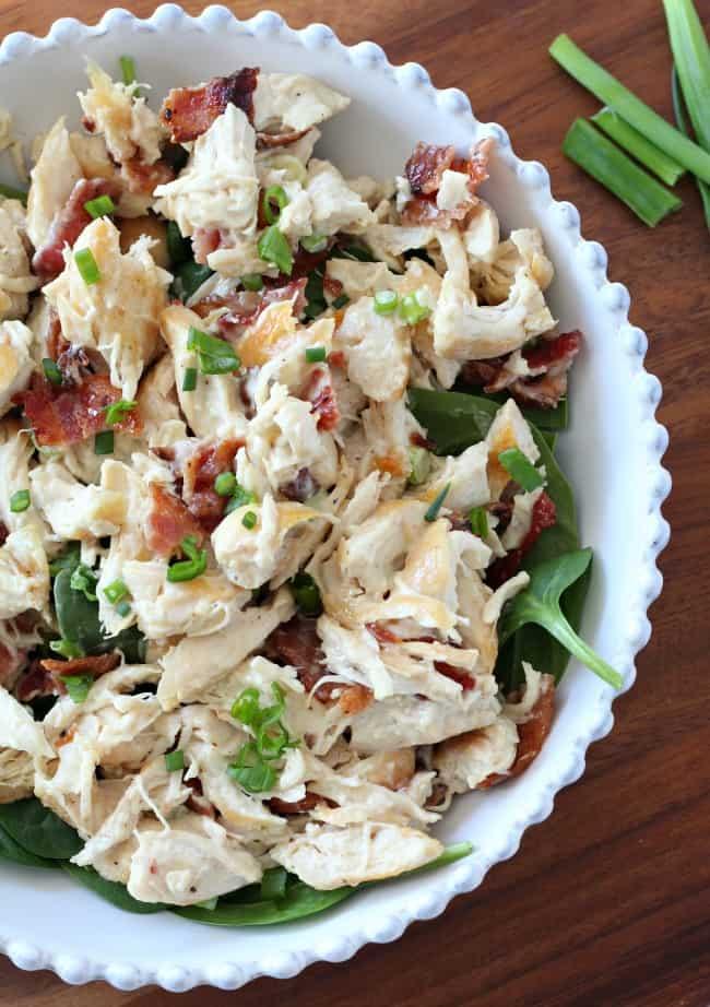paleo chicken salad with bacon green onion rh paleorunningmomma com