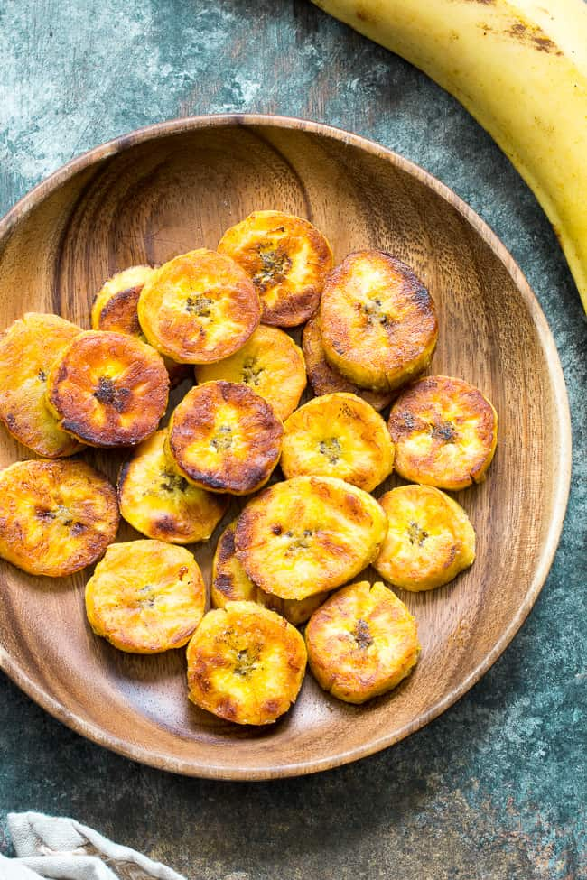 Crispy Soft Sweet Fried Plantains Paleo Whole30 Vegan