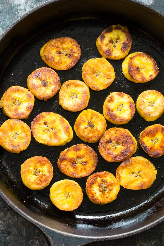 Easy and quick, delicious, satisfying, and healthy, these crispy, soft, sweet fried plantains will become your new go favorite!  Paleo and Whole30 friendly, sugar free, vegan, refined oil free, and loved by all!