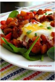 Spicy Paleo Andouille Sausage Breakfast Hash