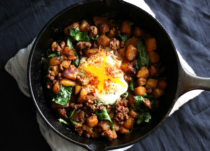 Plantain and beef hash 2
