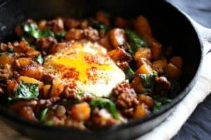 Spicy Plantain and Beef Hash