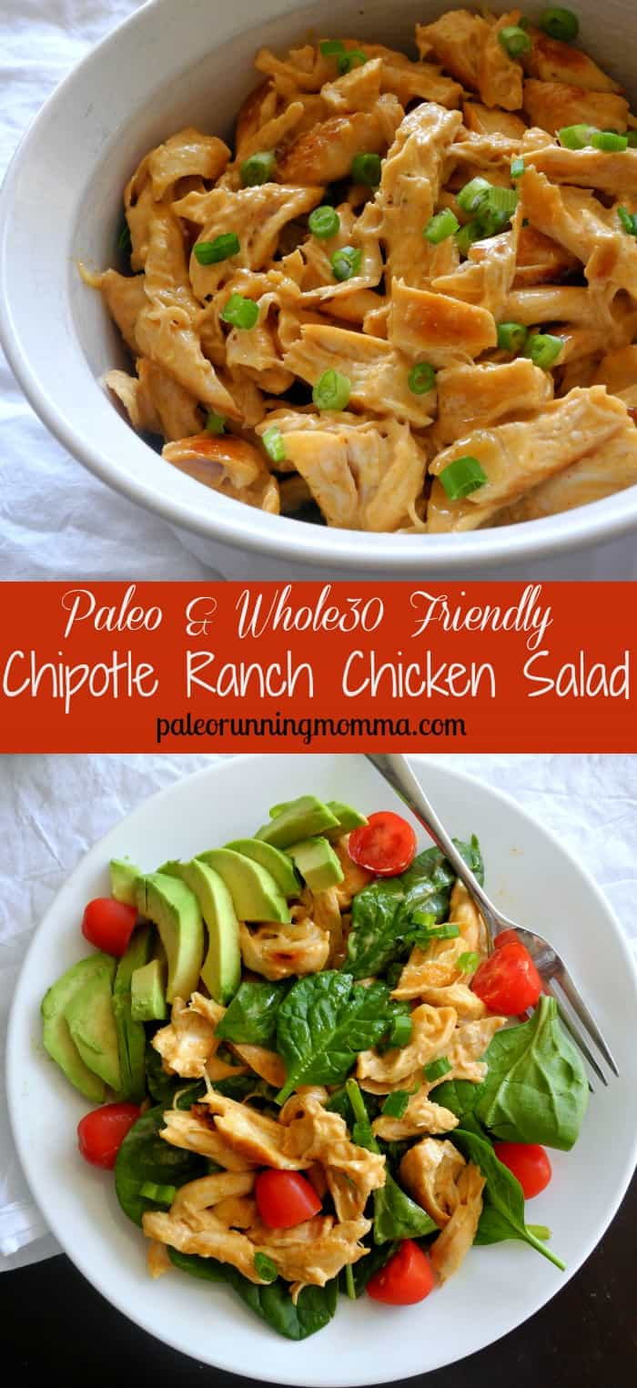 Paleo & Whole30 Friendly Chipotle Ranch Chicken Salad
