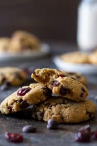 Soft and Chewy Paleo Chocolate Chip Cranberry Cookies
