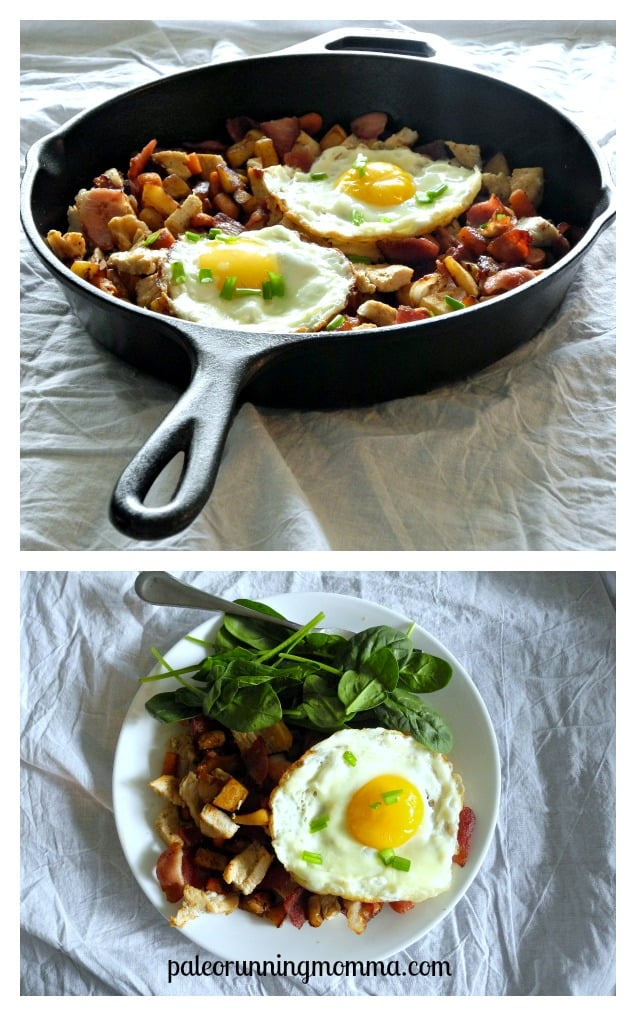 #Paleo Parsnip, Carrot, Turkey & Bacon Hash #whole30