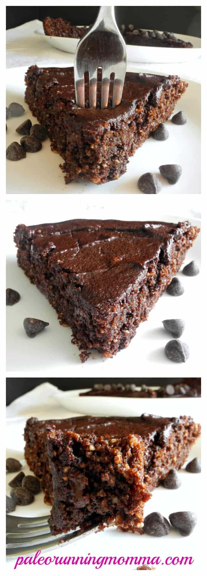 Gooey Fudge Brownie Pie #glutenfree #grainfree #paleo #dairyfree