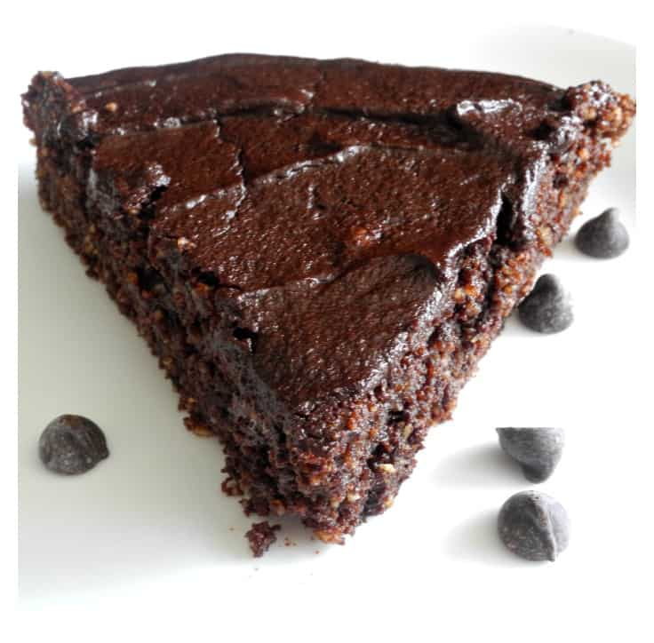 Gooey Fudge Brownie Pie #paleo