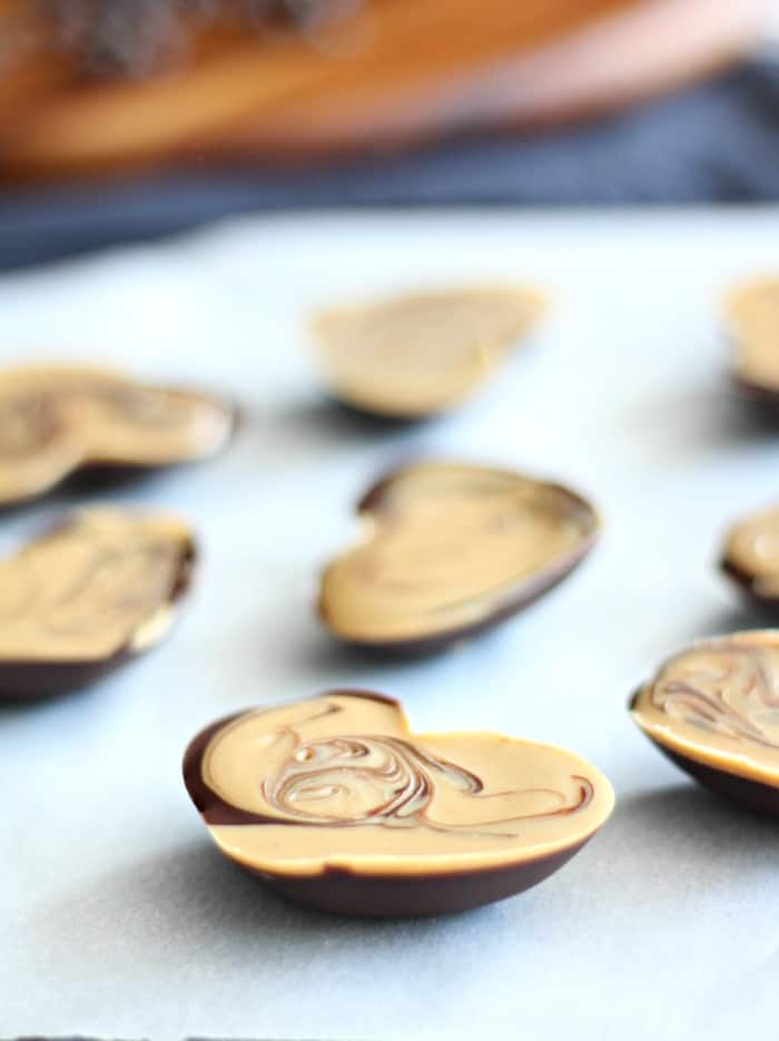 Cashew Butter Heart Candy Cups Paleo and vegan