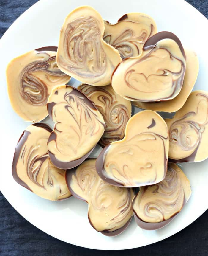 Chocolate Cashew Butter Heart Cups