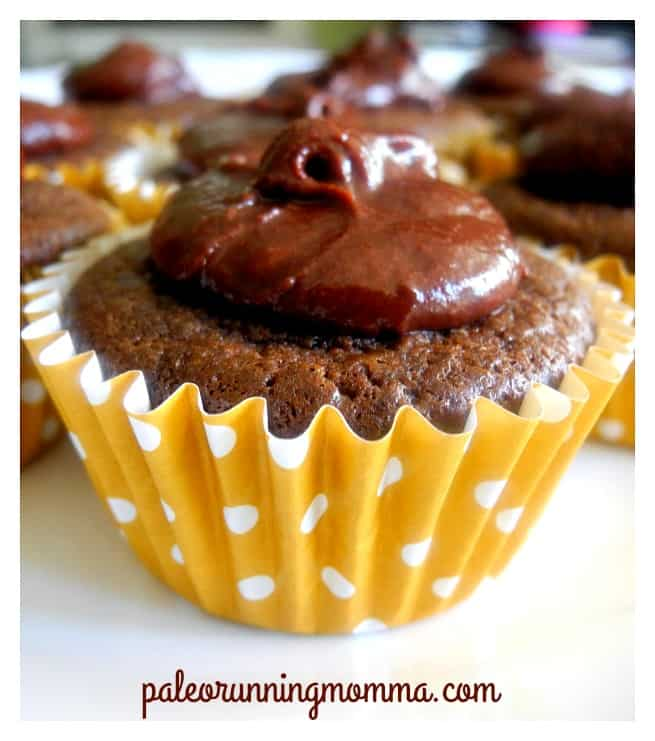 Chocolate cupcakes with chocolate ganache #paleo #glutenfree #grainfree #dairyfree
