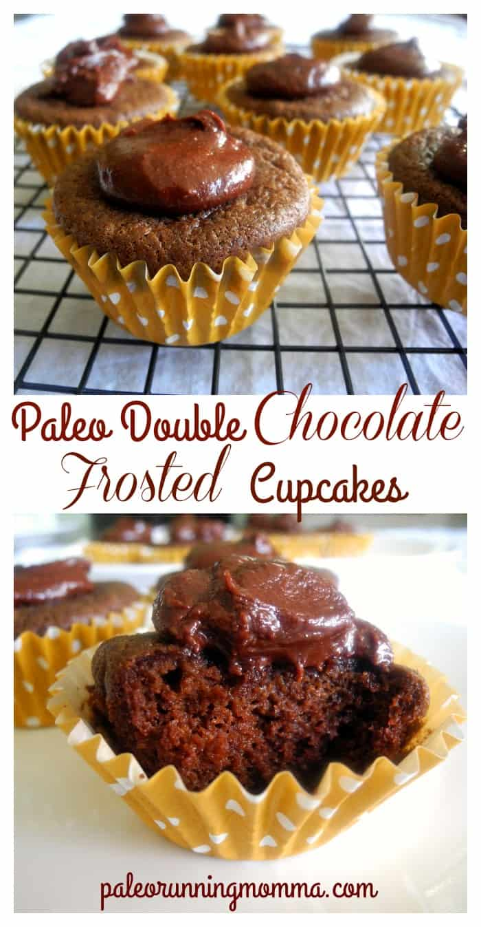 Paleo Double Chocolate Frosted Cupcakes {Nut free option}