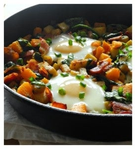 Sweet Potato & Butternut Hash with Bacon & Spinach @paleorunmomma #whole30
