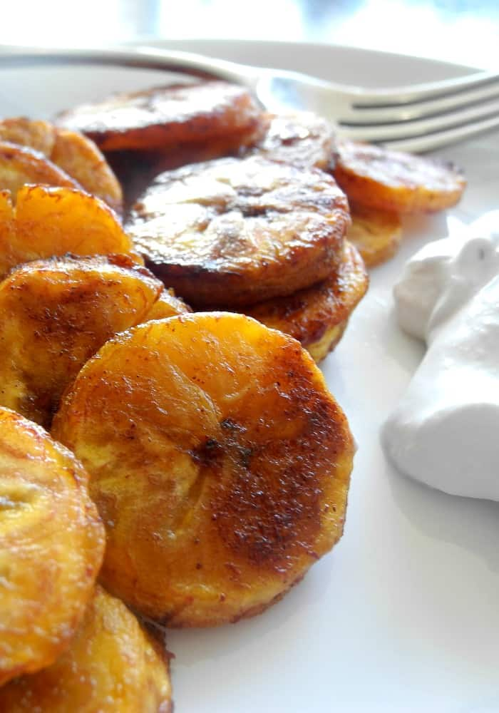 ... plantain candy! These sweet caramel cinnamon baked plantains are paleo