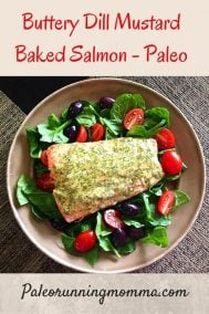 Buttery Dill Mustard Salmon {Paleo}