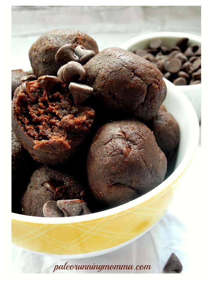 Double Chocolate Sunflower Butter Bites - #paleo #vegan #nutfree