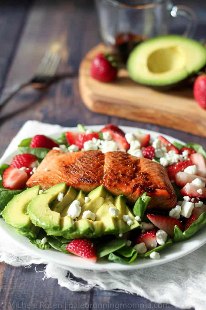 salmon strawberry avocado salad-9