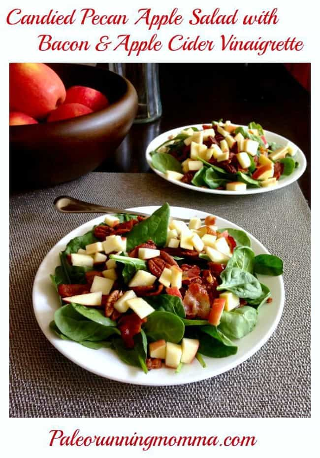 Candied Pecan Apple Salad with Bacon @paleorunmomma
