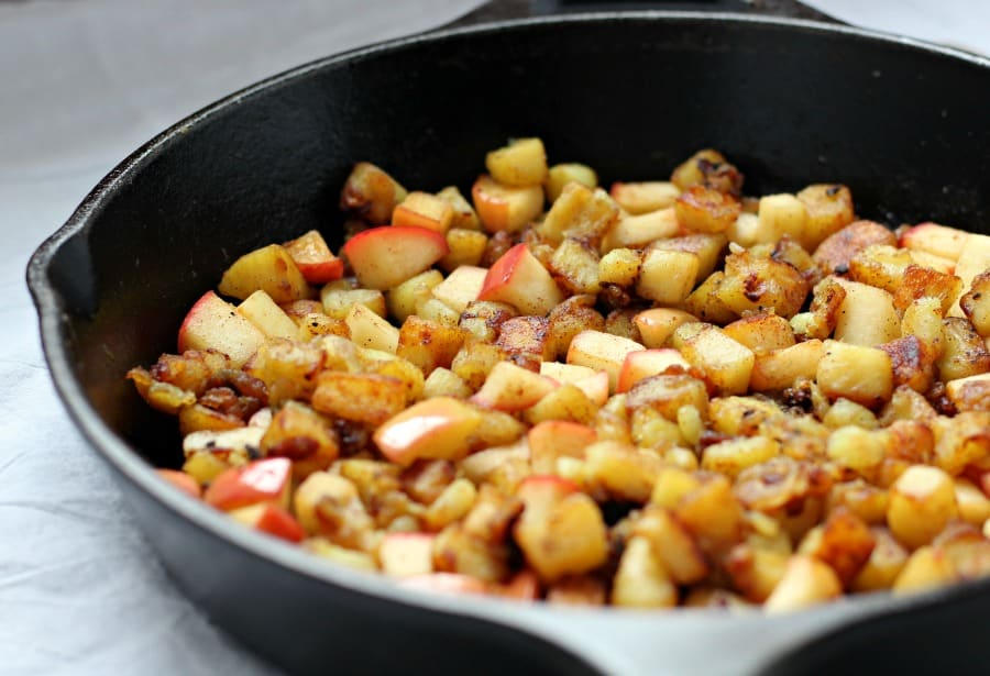 Caramelized Sweet potato and apple hash 2