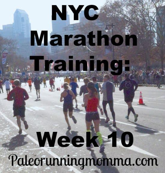 NYC Marathon Training Week 10