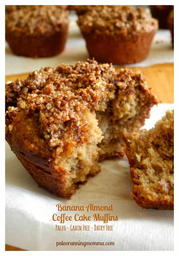 Banana Almond Coffee Cake Muffins {Paleo}