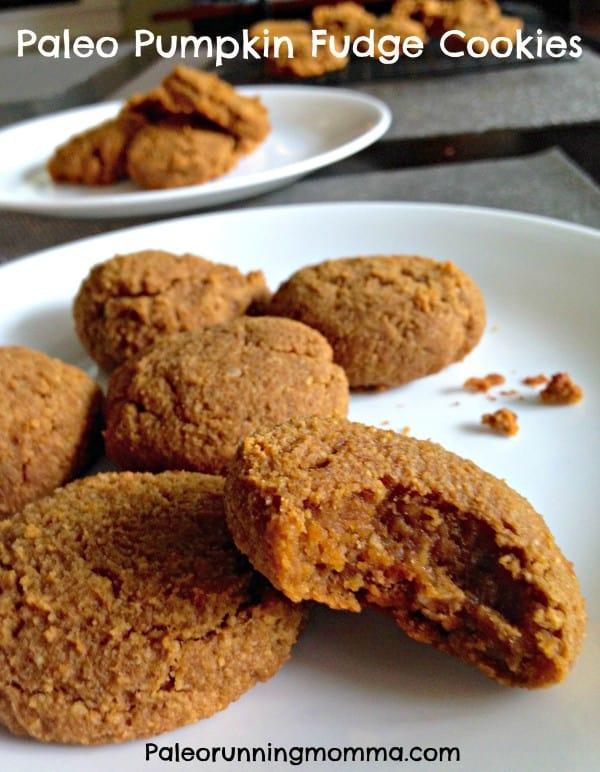Paleo Pumpkin Fudge Cookies - Chewy pumpkin spice fudge cookies! @paleorunmomma