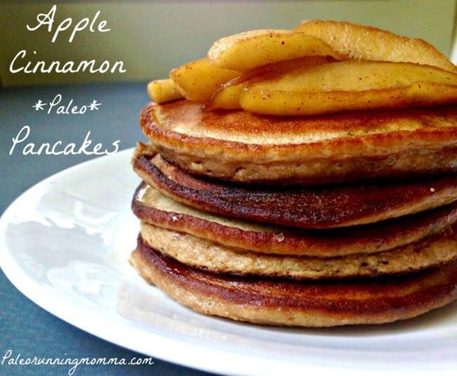 Apple Cinnamon Paleo Pancakes {Nut Free}
