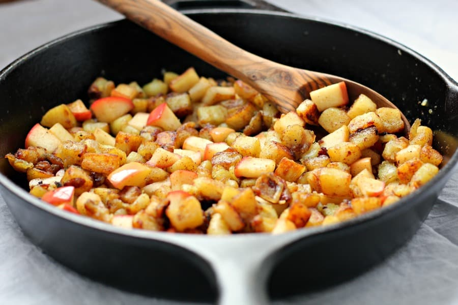 caramelized sweet potato apple hash browns 2
