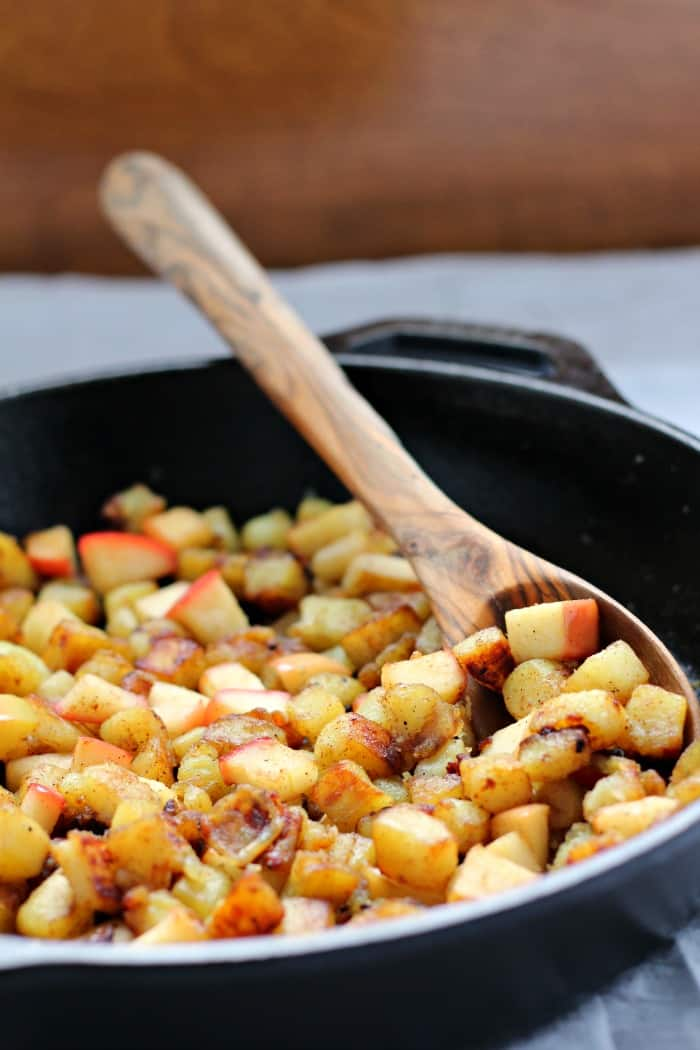 caramelized sweet potato hash browns apple