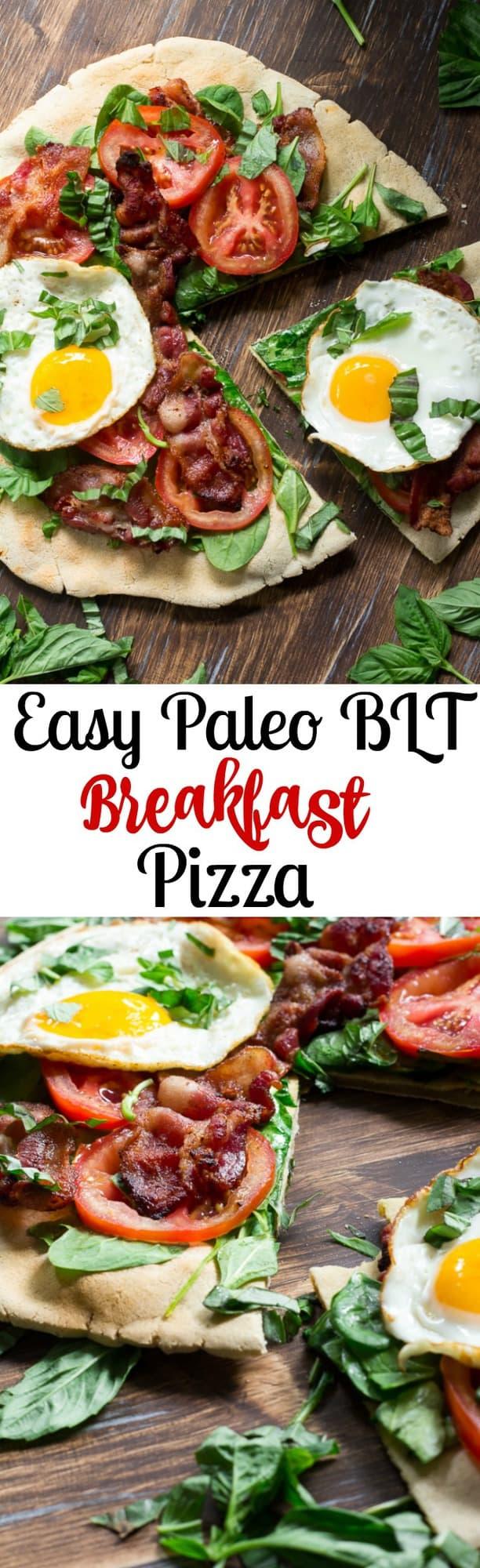 Easy Paleo BLT breakfast pizza