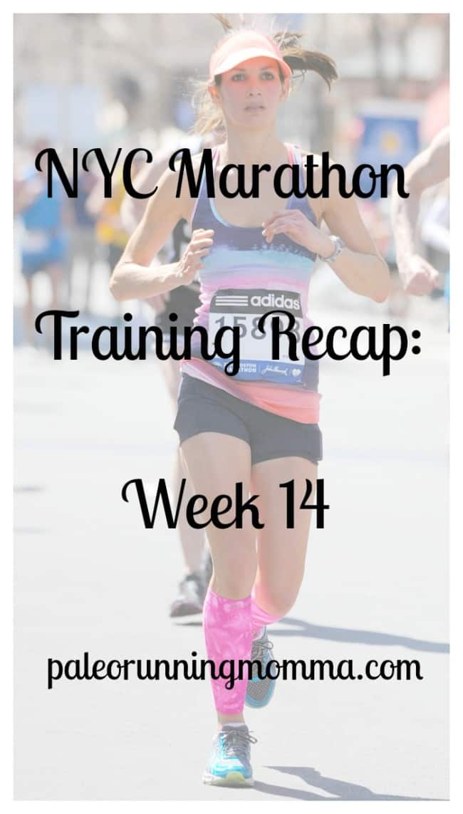 NYC Marathon Training Recap Week 14 @paleorunmomma