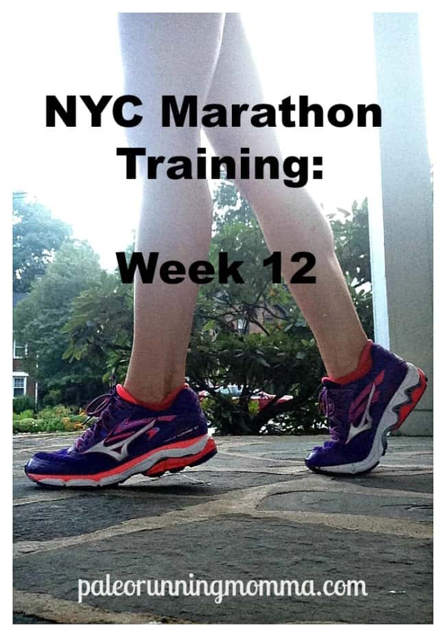 NYC Marathon Training Week 12 @paleorunmomma