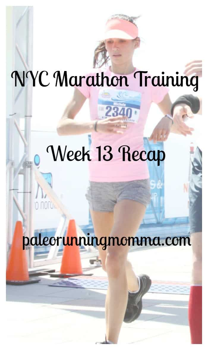 NYC Marathon Training Week 13 Recap
