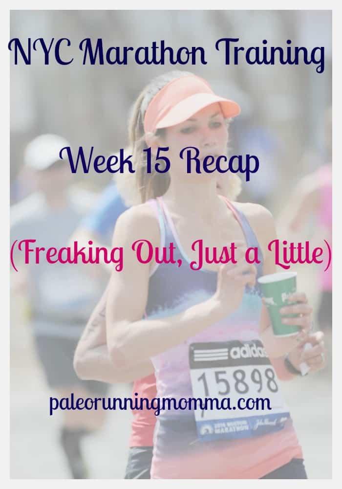 NYC Marathon Week 15 Recap @paleorunmomma