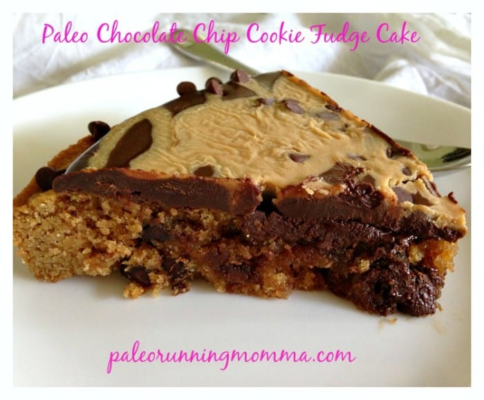 Paleo Chocolate Chip Cookie Fudge Cake