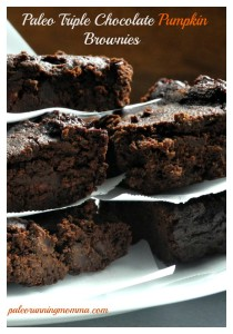 Paleo Triple Chocolate Pumpkin Brownies