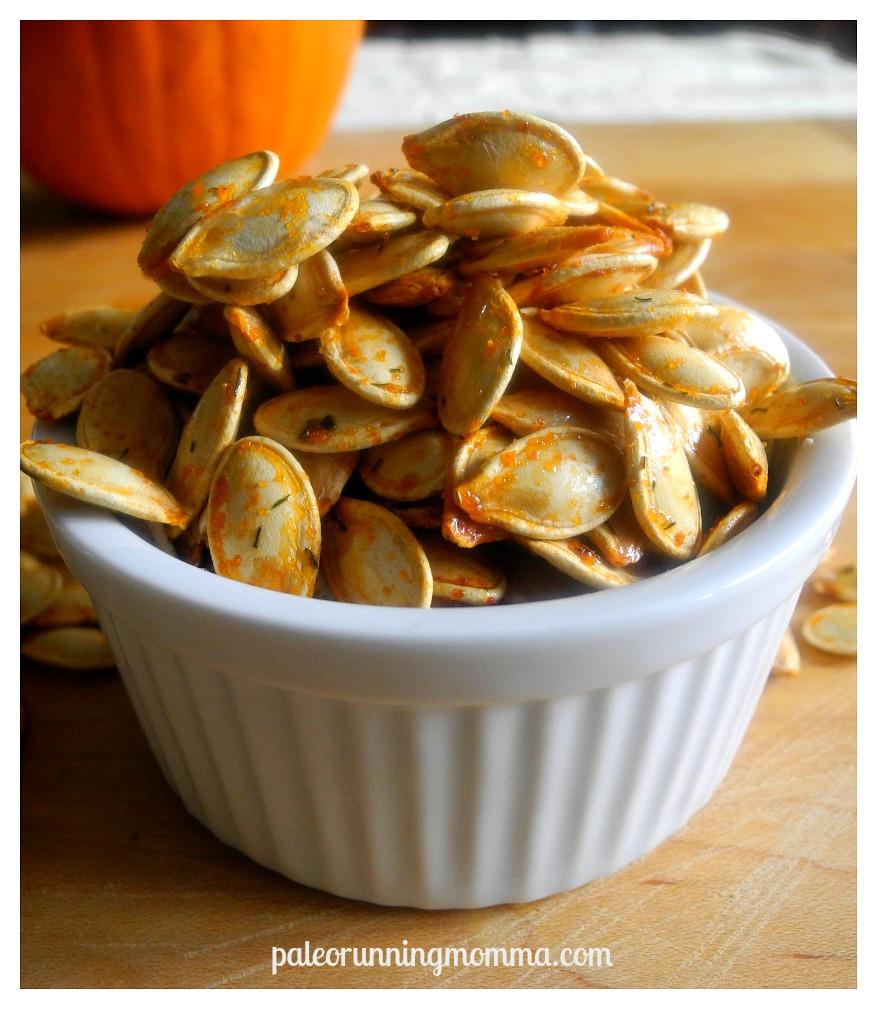 Ranch flavored roasted pumpkin seeds @paleorunmomma