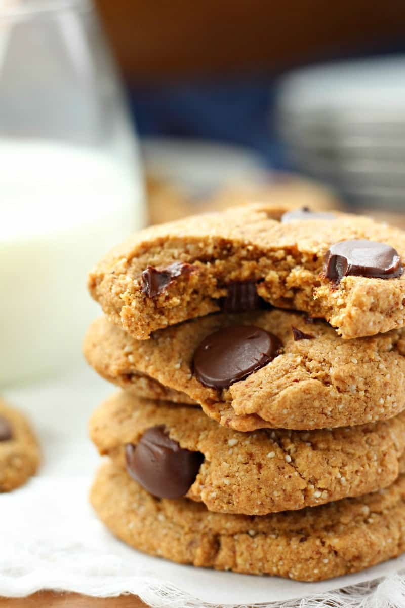 Ultimate soft and chewy gluten free and paleo chocolate chip cookies