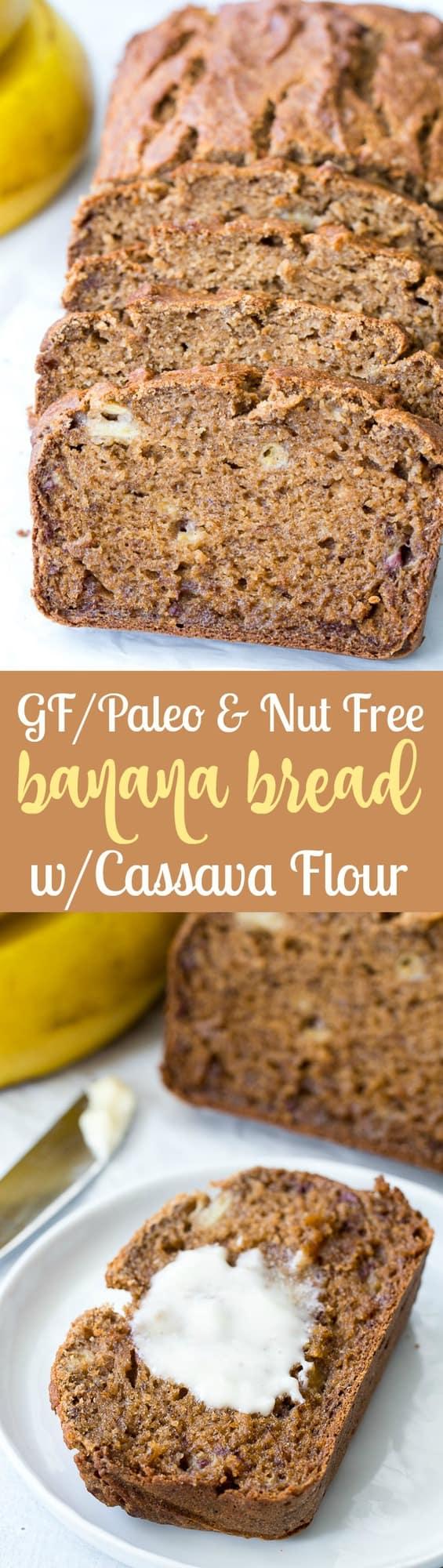 Paleo Banana Bread With Cassava Flour