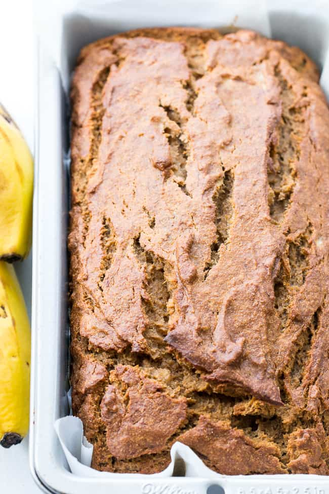 Paleo banana bread with cassava flour this paleo banana bread with cassava flour is gluten and grain free dairy free nut free and packed with healthy fats and clean ingredients forumfinder Gallery