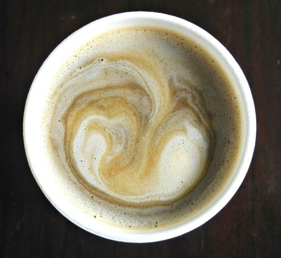 coffee with coconut whipped cream