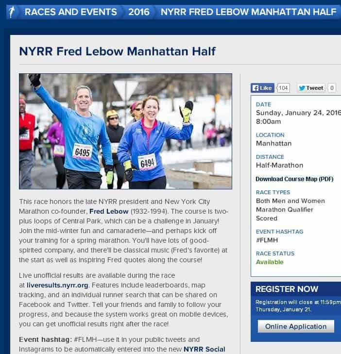 Fred Lebow Half