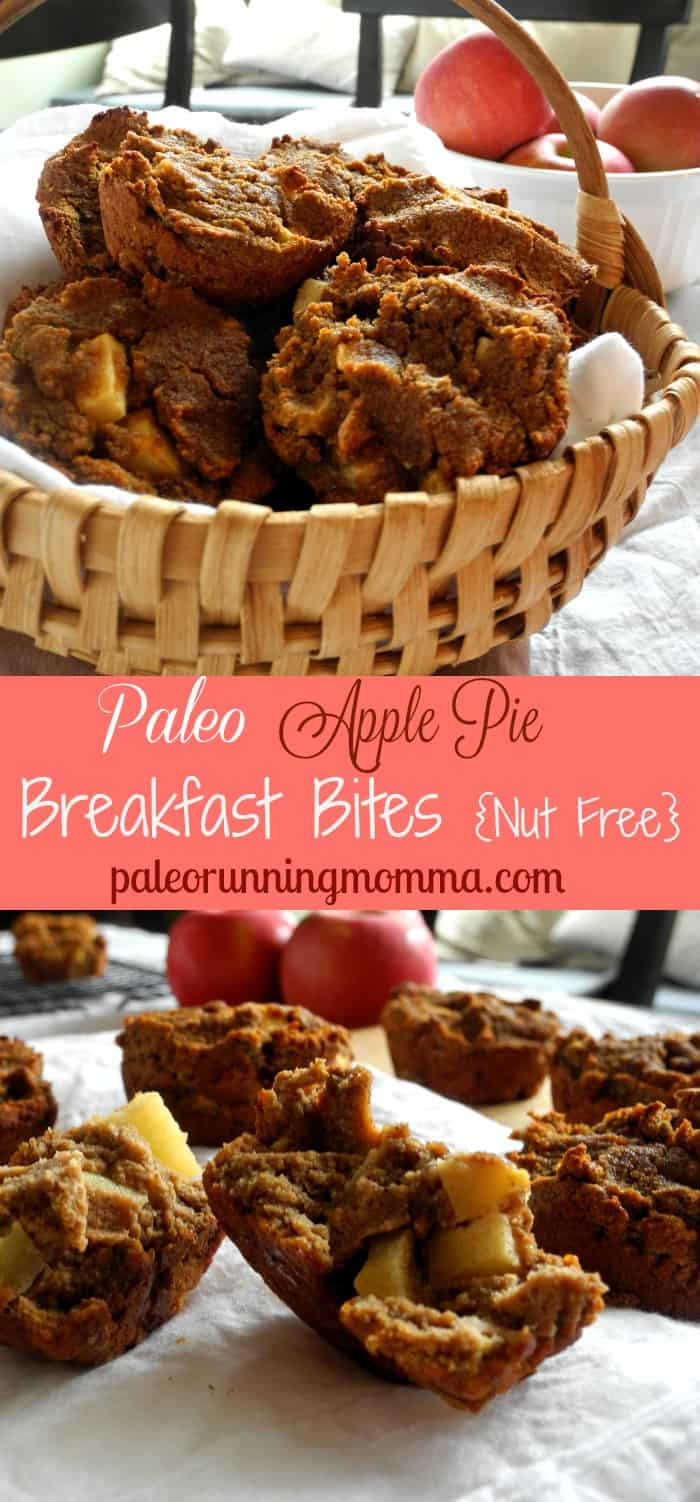 Paleo Apple Pie Breakfast Bites #nutfree #grainfree #dairyfree