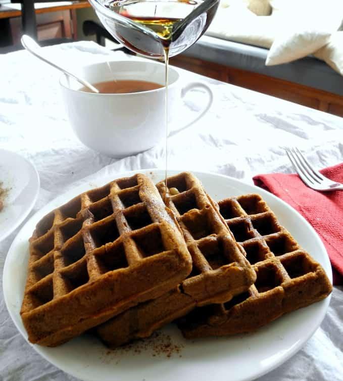 Paleo gingerbread waffles - #grainfree #dairyfree #glutenfree