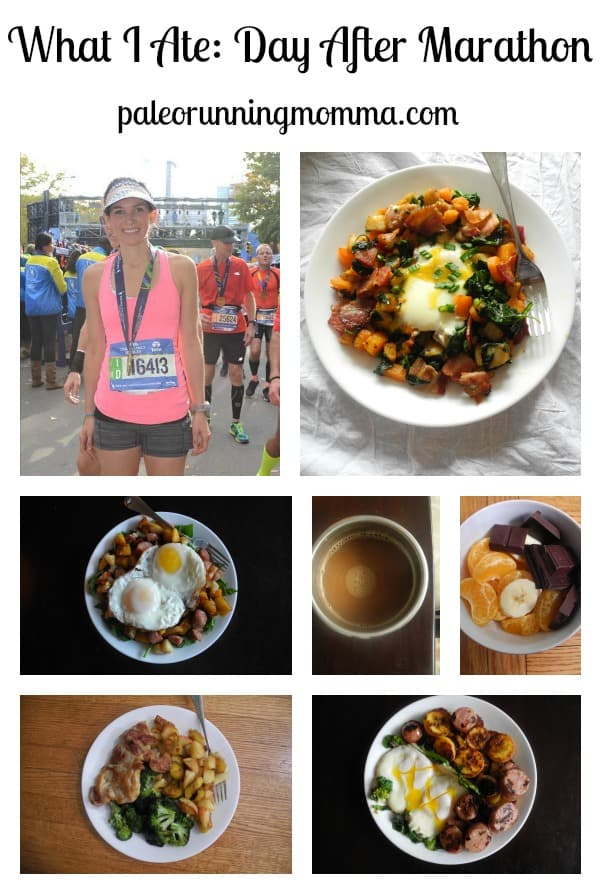 What I Ate Day after Marathon