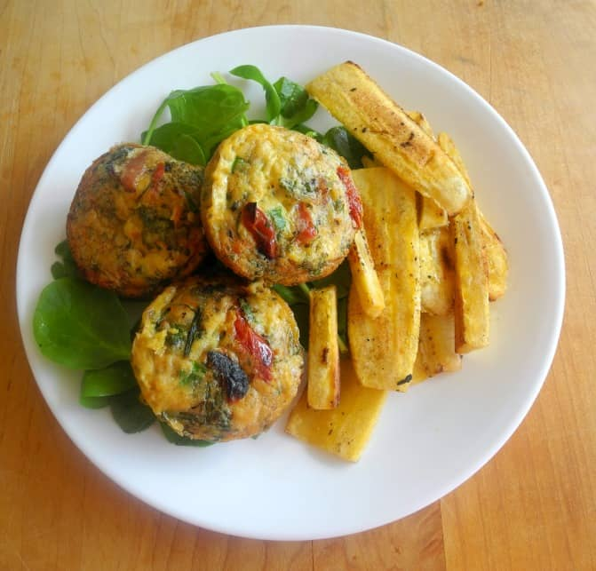 frittatas and plantains