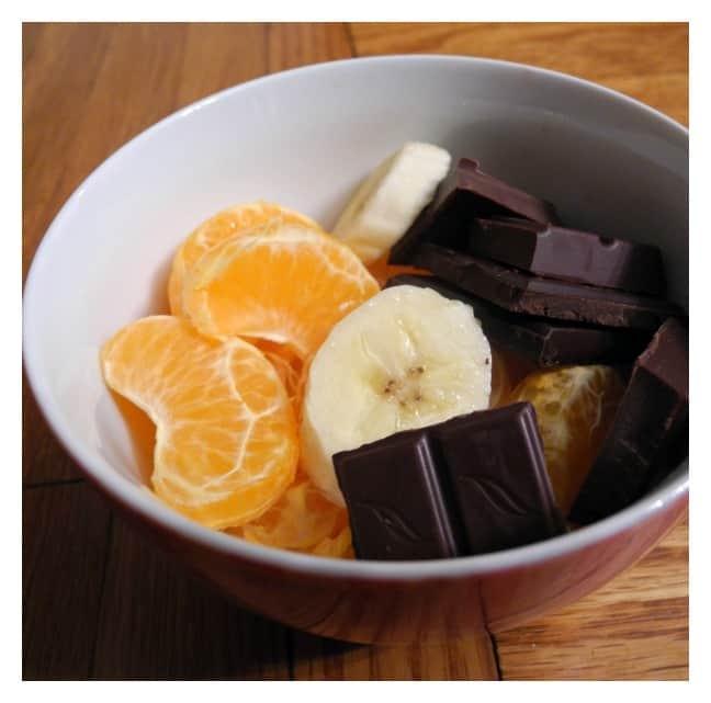 post marathon oranges banana chocolate