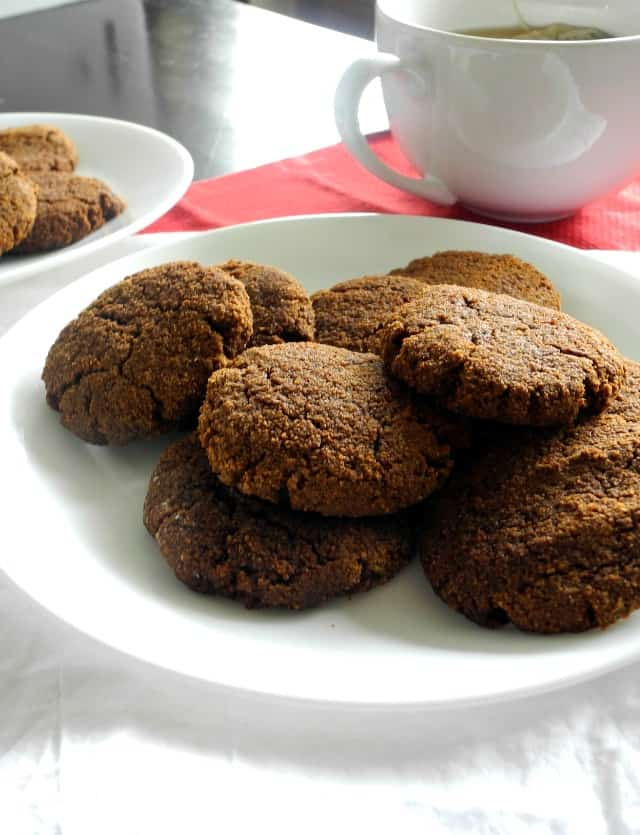 soft paleo ginger molasses cookies - paleo - grain free- dairy free