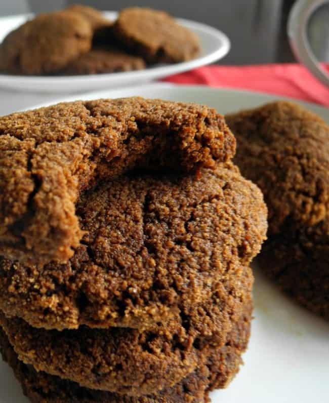 soft paleo ginger molasses cookies with coconut flour