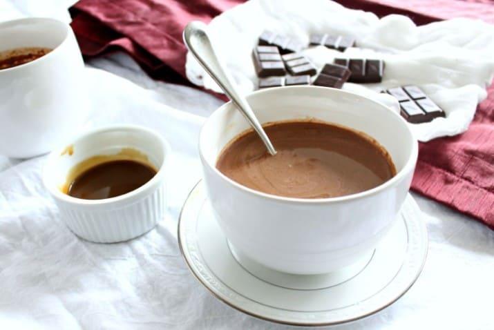 Caramel Hot Chocolate Almond Milk