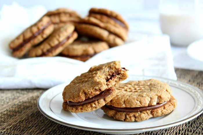 Chewy Almond butter chocolate sandwich cookies